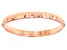 10k Rose Gold Diamond Cut Stackable Band Ring