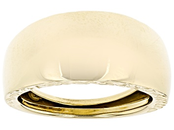 Picture of 10K Yellow Gold 7.8MM Polished Diamond-Cut Dome Ring