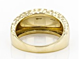 10k Yellow Gold Polished Diamond Cut Dome Ring
