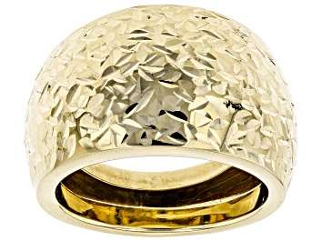 Picture of 10k Yellow Gold Diamond Cut Band Ring