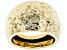 10K Yellow Gold Diamond Cut 18.1MM Dome Ring