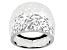 10K White Gold Diamond Cut 18.1MM Dome Ring