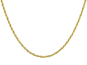 10k Yellow Gold Polished Torchon 18 inch Necklace