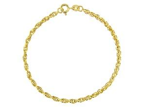 10k Yellow Gold Polished Torchon 7.25 inch Bracelet