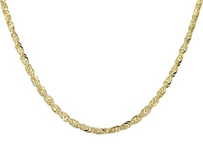 10k Yellow Gold Polished Square Spiga 18 inch Necklace