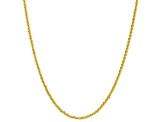 10k Yellow Gold Designer Criss Cross 16 inch Necklace