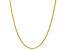 10k Yellow Gold Designer Criss Cross 18 inch Necklace