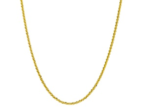 10k Yellow Gold Designer Criss Cross 20 inch Necklace