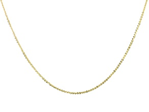 10k Yellow Gold Designer Criss Cross 24 inch Necklace