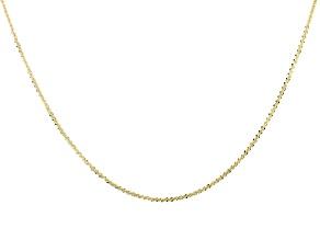 10k Yellow Gold Designer Criss Cross 24 inch Necklace