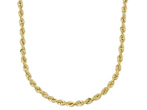 10K Yellow Gold 2MM Diamond Cut Rope Chain Necklace 20 Inch