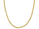 10K Gold Diamond Cut Criss-Cross Necklace Chain With Adjustable Slider Closure