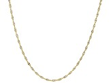 10K Two-Tone Singapore Chain Necklace 20 Inches