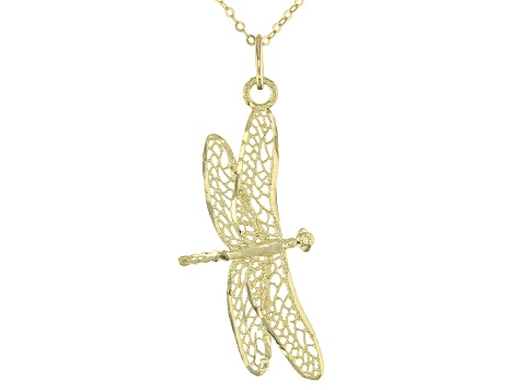 Charm America 10 Karat Solid Gold Gold Heart Winged Butterfly Charm