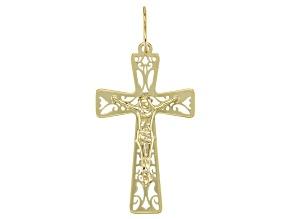 10K Gold Cross Pendant Charm