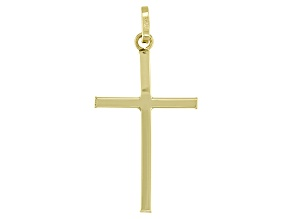 10K Gold Cross Charm Pendant