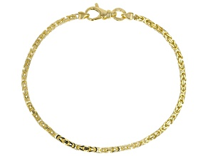 10K BYZANTINE SOLID GOLD BRACELET  8-8.5 INCHES