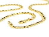 10K Yellow Gold Flat Curb Necklace 22 Inches