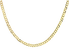 10K YELLOW GOLD CURB NECKLACE 22