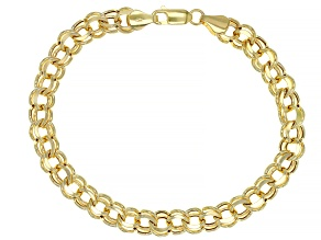 10K YELLOW GOLD GARIBALDI CHAIN BRACELET