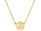 10K Yellow Gold High Polished Bead Necklace 20