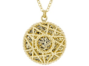 10K YELLOW GOLD TREASURE PENDANT   NECKLACE 20''