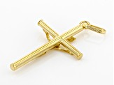 10K Solid Yellow Gold Cross Pendant