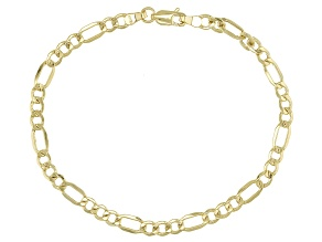 10K Yellow Gold Diamond Cut Bracelet