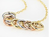 10KT Yellow Gold Circle Necklace 20 Inches