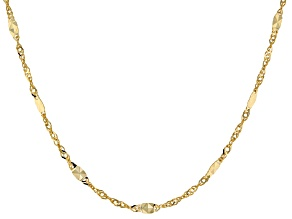 10KT Yellow Gold Star Station Necklace.