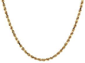 10KT Yellow Gold Diamond Cut Necklace.