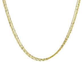 10KT Multi-strand Singapore Necklace 20""