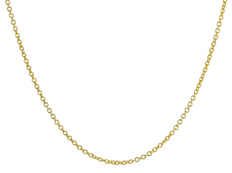 10K Yellow Gold Rolo Necklace 20 Inches