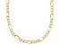 10K Figaro Diamond Cut Necklace 20