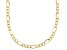 10K Figaro Diamond Cut Necklace