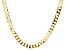 10K Yellow Gold Faceted Curb Chain Necklace 22