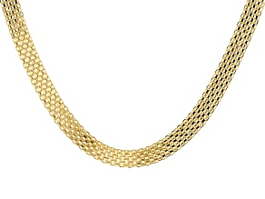 10KT Yellow Gold Bismark Necklace 18