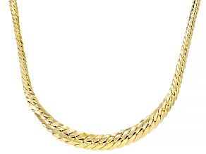 14KT Yellow Gold Graduated Herringbone Necklace 18