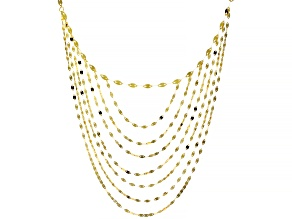 10KT Yellow Gold Multi-Strand Valentino Necklace  18