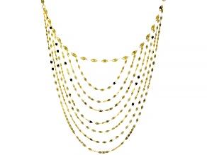 10KT Yellow Gold Multi-Strand Valentino Necklace  18