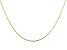 10K Yellow Gold Mirror Cable Necklace 16 Inches