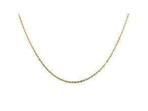 10K Yellow Gold Mirror Cable Necklace 18""
