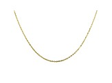 10K Yellow Gold Mirror Cable Necklace 18