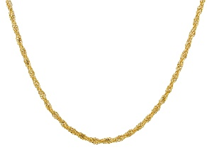 14KT Yellow Gold Double Infinity Necklace 18