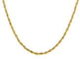 14KT Yellow Gold Double Infinity Necklace 18""