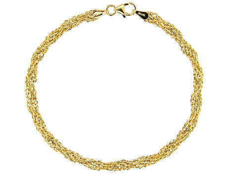 14kt Yellow Gold Double Infinity Bracelet