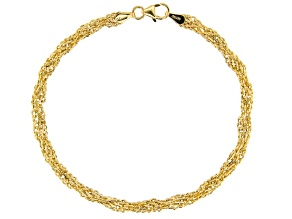 14kt Yellow Gold Double Infinity Bracelet