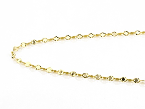 10K Yellow Gold Valentino Star Necklace 18
