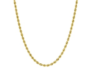 10K Yellow Gold Rope Necklace 18