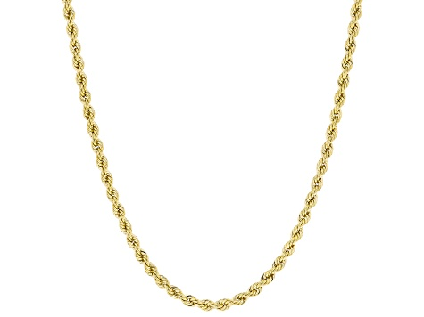10K Yellow Gold Rope Necklace 20